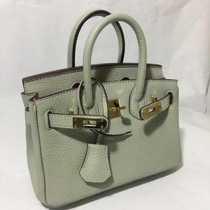 Handbags - Mini Italian leather bag, birkin look alike.